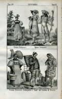 Stampa Incisione Costumi Europa Svizzera Berna Spose - Estampas & Grabados