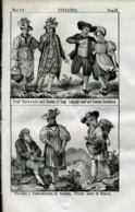 Stampa Incisione Costumi Europa Svizzera Zug Scialusa Glavis - Estampas & Grabados