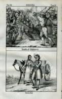 Stampa Incisione Costumi Europa Svizzera Arnoldo Di Winkelried Anabattisti - Estampas & Grabados