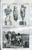 Stampa Incisione Costumi Europa Germania Antica - Prenten & Gravure