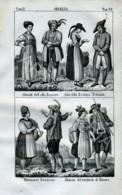 Stampa Incisione Costumi Europa Germania Baviera Renana Monaco - Prenten & Gravure