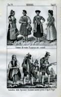 Stampa Incisione Costumi Europa Germania Baviera Spessart - Estampas & Grabados