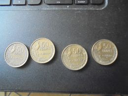 4 Pièces De 50 Francs Type Guiraud - France
