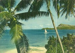( POLYNESIE  FRANCAISE ) BORA BORA . PLAGE DE  L HOTEL BORA BORA - Polynésie Française