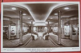Star Liner Queen Mary - Cunard White Star Liner: Main Cabin Shopping Centre 1937 - Paquebots