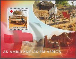 Sao Tome & Principe 2008 - Bicycle Ambulance - Miniature Sheet ** MNH - Wielrennen