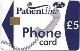 UK - Patientline - Phone Card (White & Blue), Chip Siemens S5, Cn. 1PLFFF, 5£, Used - Royaume-Uni