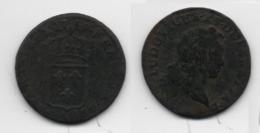 + FRANCE   + 1/2 SOL AUX BALANCES  1719 AA +  TRES  BELLE + - 1715-1774 Louis XV Le Bien-Aimé