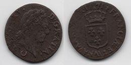 + FRANCE   + 1/2 SOL AUX BALANCES  1771 AA +  TRES  BELLE + - 1715-1774 Louis XV Le Bien-Aimé