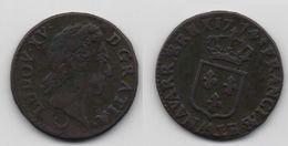 + FRANCE   + 1/2 SOL AUX BALANCES  1774 AA +  TRES  BELLE + - 1715-1774 Louis XV Le Bien-Aimé