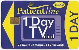 UK - Patientline - 1 Day TV Card (Purple & Yellow), Cn. 1PLFFJ, 3,5£, Used - Royaume-Uni