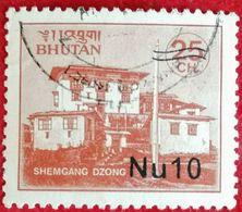 "110. BHUTAN USED STAMP SHEMGANG DZONG ""SURCHARGED"" . - Bhoutan"