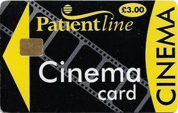 UK - Patientline - Cinema Card (Black & Yellow), Cn. 1PLFFP, 3£, Used - Royaume-Uni