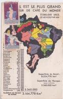BRESIL - LE PLUS GRAND EXPORTATEUR DE CAFE A L EXPOSITION PARIS 1937 - TIMBRE VIGNETE 1930 PROPRETE SANTE SEINE ET OISE - Unclassified