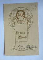 """""""Neujahr, Jahreszahl"""" 1905, Golddruck ♥  - Nouvel An"""