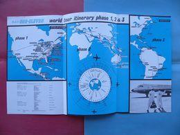 8/1966 DEPLIANT BRITISH AIRCRAFT CORPORATION BAC ONE-ELEVEN 300/400 WORLD TOUR Surrey England - Advertisements