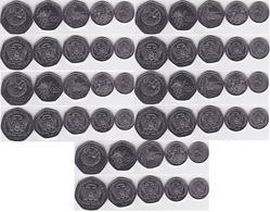 S Tome E Principe - 5 Pcs X Set 5 Coins 100 250 500 1000 2000 Dobras 1997 UNC Lemberg-Zp - Sao Tome And Principe