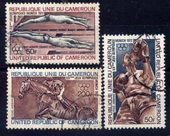 CAMEROUN - A202/204° - JEUX OLYMPIQUES DE MUNICH - Camerún (1960-...)