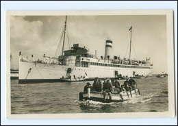 S2149/ Helgoland Ausbooten  Dampfer Kaiser  F. Schensky Foto AK Ca.1935 - Helgoland