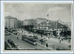W8W20/ Hamburg Straßenbahn Alsterpavillon AK 1940 - Mitte