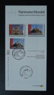 Mont Saint Michel Patrimoine Mondial Unesco World Heritage 50 Manche Notice FDC Avec Timbre - Multilingual FDC 2006 - FDC