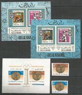 2 Pcs RAS AL KHAIMA - AJMAN - MNH - Sport - Olympic Games - Perf. + Imperf. - Other
