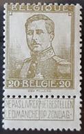 BELGIQUE / YT 112 / ROI ALBERT I / NEUF * / MH - 1912 Pellens