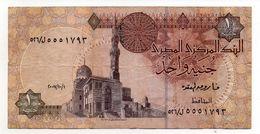 BILLET DE BANQUE - BANK NOTE - EGYPTE - EGYPT - 2007 - 1 POUND - 1 LIVRE - - Egypte