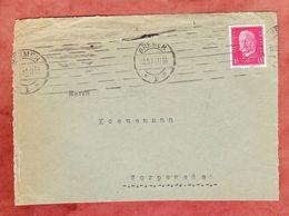 Vorderseite, Hindenburg, MS Band Striche Bremen, Nach Worpswede 1931 (95800) - Germany