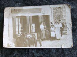 RARE Ancienne Photo Unique De Buvette /marchand De Cartes Postales. Quartier Mineur. Années 1900. - Saint Etienne