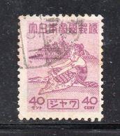 W209 - INDONESIA OCCUPAZIONE GIAPPONESE, Un Valore Usato Emesso Nel 1943 - Indonesia