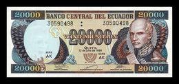Ecuador 20000 Sucres 12.07.1999 Pick 129f Serie AK SC UNC - Ecuador