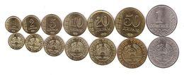 Tajikistan - Set 7 Coins 1 2 5 10 20 50 Diram 1 Somoni 2011 AUNC / UNC - Tajikistan