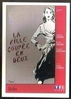Carte Postale : La Fille Coupée En Deux (cinema Affiche Film) Illustration Miss-Tic (tag, Graffiti, Street Art) - Autres Illustrateurs