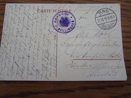 5Carte Postale En Feldpost (HAL) : Bahnhof   BELLINGHEN (1916) - Weltkrieg 1914-18