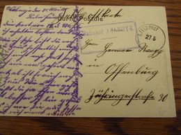 Carte Postale En Feldpost : Bahnhof  AULNOYE - Other