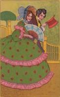 Unsigned Artist Image Couple 19th Century Fashion, Art Deco(?) Theme C1900s/20s Vintage T.S.N. #S.684 Postcard - Illustrators & Photographers