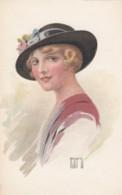 Rappini Artist Signed Image Fashion, Glamour Hat C1910s Vintage Series #92 Postcard - Illustratori & Fotografie