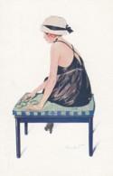 Koister Artist Signed Image, 'Les Fetishes A La Mode' French Glamour Fashion C1910s/20s Vintage Series 71 No. 6 Postcard - Illustratori & Fotografie