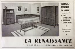 PUB 1967 Meubles LA RENAISSANCE Halluin Nord 59 - Publicidad