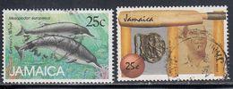 Jamaica, Scott #684, 687, Used, Whales, Cricket, Issued 1988 - Jamaica (1962-...)