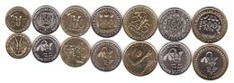West African St. - Set 7 Coins 5 10 25 50 100 200 500 Francs 2004 - 2012 UNC Lemberg-Zp - Monedas