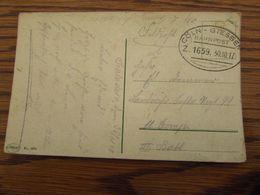 Carte Postale (fantaisie) En Feldpost Oblitérée Par L'ambulant COLN-GIESSEN (1917) - Weltkrieg 1914-18