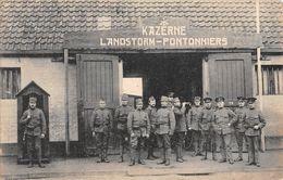 CPA  Militaire PAYS BAS Kaserne LANDSTORM PONTONNIERS - Dordrecht
