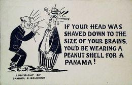 CPA  Samuel S Goldring Hat Panama - Personajes