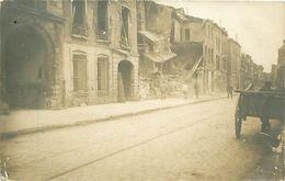 Cpa Carte Photo CHALONS 51 Bombardement 1914 - 1918, Rue Saint Jacques ( 58 Rue Léon Bourgeois ) - Châlons-sur-Marne