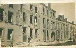 Cpa Carte Photo CHALONS 51 Bombardement 1914 - 1918, Rue Saint Jacques (45 Rue Léon Bourgeois ) - Châlons-sur-Marne