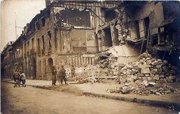 Cpa Carte Photo CHALONS 51 Bombardement 1914 - 1918, Rue Saint Jacques (58 Rue Léon Bourgeois ) - 2 - - Châlons-sur-Marne