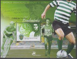 Portugal 2005 - Centenary Of The Sporting Club: Football, Cycling - Miniature Sheet Block 235 (3027) ** MNH - Wielrennen