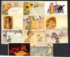 Art Nouveau Art Deco Illustrators Glamour Amazing Lot 39 Postcards - 5 - 99 Postcards